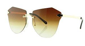 Óculos Solar Feminino Primeira Linha S31160 Marrom Claro Degradê
