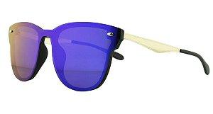 Óculos Solar Unissex Primeira Linha AIP8431 Azul Espelhado