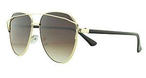 Óculos Solar Feminino AP8808 Marrom Escuro Degradê