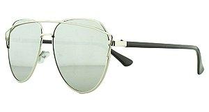 Óculos Solar Feminino AP8808 Prata Espelhado