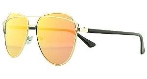 Óculos Solar Feminino AP8808 Laranja Espelhado