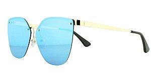 Óculos Solar Feminino Primeira Linha PR69TS Azul Espelhado