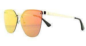 Óculos Solar Feminino Primeira Linha PR69TS Laranja Espelhado