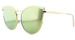 Óculos Solar Feminino AP8807 Rosa Espelhado