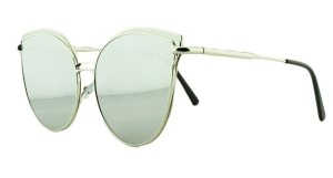Óculos Solar Feminino AP8807 Prata Espelhado