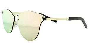 Óculos Solar Unissex Primeira Linha 8136 Rosa Espelhado