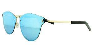 Óculos Solar Unissex Primeira Linha 8136 Azul Espelhado