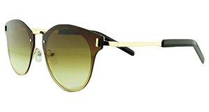 Óculos Solar Unissex Primeira Linha 8136 Marrom Degradê