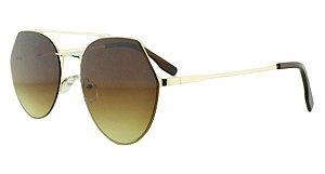 Óculos Solar Feminino K6185 Marrom Claro Degradê