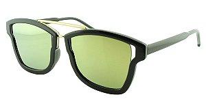 Óculos Solar Feminino Sortido HX6009 Amarelo Espelhado