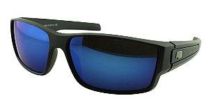 Óculos Solar Masculino Esportivo Sortido LL3003 Azul Espelhado