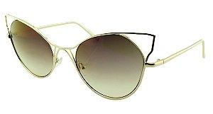 Óculos Solar Feminino Sortido HT2688 Marrom Degradê