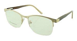 Armação para Óculos de Grau Unissex VC0708 Dourada e Marrom