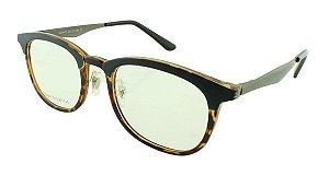 Armação para Óculos de Grau Feminino VC0601 Azul e Marrom Onça