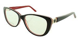 Armação para Óculos de Grau Feminino BC8185 Preta e Vermelha