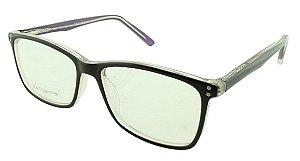 Armação para Óculos de Grau Feminino ZD4037 Preta e Roxa