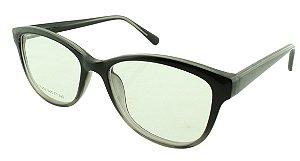 Armação para Óculos de Grau Feminino VC5203 Preta e Cinza