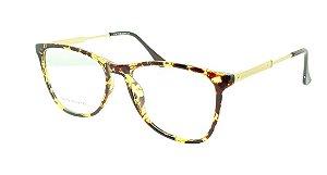 Armação para Óculos de Grau Feminino SJ0139 Amarela e Marrom