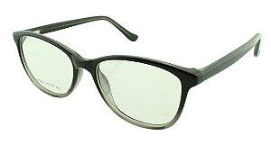 Armação para Óculos de Grau Unissex VC5201 Preta e Cinza