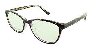 Armação para Óculos de Grau Feminino VC5201 Roxa e Onça