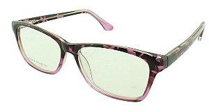Armação para Óculos de Grau Feminino VC5206 Preta e Rosa