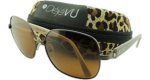 Óculos Solar Feminino Polarizado E56R Marrom com Estojo Déjàvu