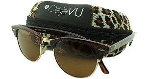 Óculos Solar Unissex Polarizado DSA1828R Prata com Estojo Déjàvu