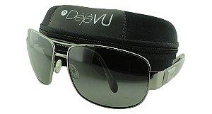 Óculos Solar Masculino Polarizado 3102R Grafite com Estojo Déjàvu