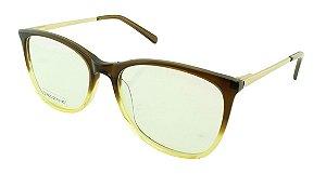 Armação para Óculos de Grau Unissex DS6635 Marrom e Amarela