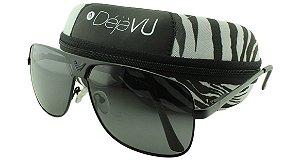 Óculos Solar Masculino Polarizado GT1680R Preto com Estojo Déjàvu