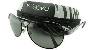 Óculos Solar Masculino Polarizado 20452R Preto com Estojo Déjàvu