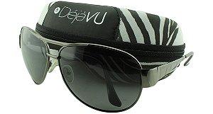 Óculos Solar Masculino Polarizado 20588R Grafite com Estojo Déjàvu