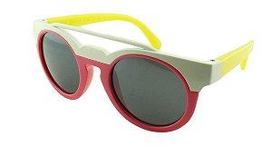 Óculos Solar Infantil MY1629 Rosa e Branco