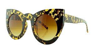 Óculos Solar Feminino Primeira Linha 97180 Preto e Amarelo