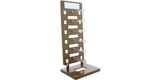 Expositor Torre para 6 Óculos com Espelho EP6L Dourado