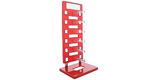 Expositor Torre para 6 Óculos com Espelho EP6L Vermelho