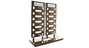 Expositor Torre para 12 Óculos com Espelhos EP12 Dourado