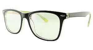 Armação para Óculos de Grau Unissex TSH7029 Marrom e Amarela