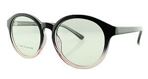 Armação para Óculos de Grau Unissex 20 Preta e Rosa