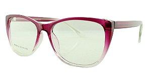 Armação para Óculos de Grau Feminino 36 Rosa e Transparente