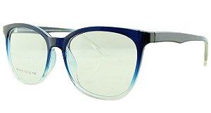 Armação para Óculos de Grau Feminino 37 Azul e Transparente