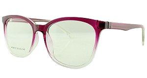 Armação para Óculos de Grau Feminino 37 Rosa e Transparente