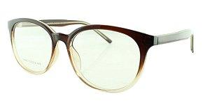 Armação para Óculos de Grau Unissex 21A Marrom Degradê