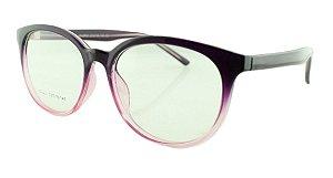 Armação para Óculos de Grau Unissex 21A Rosa Degradê