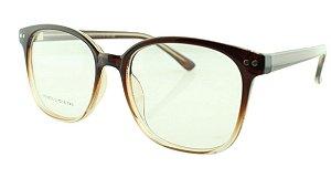 Armação para Óculos de Grau Unissex 23 Marrom Degradê