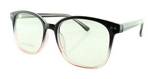 Armação para Óculos de Grau Unissex 23 Preto e Rosa
