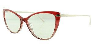 Armação para Óculos de Grau Feminino MB2788 Vermelha Degradê