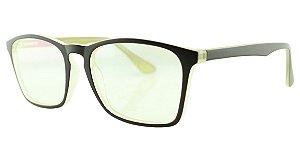 Armação para Óculos de Grau Masculino TSH7052 Marrom e Amarela
