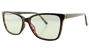 Armação para Óculos de Grau Feminino TSH7026 Vinho e Marrom Onça