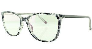 Armação para Óculos de Grau Feminino TSH7025 Preta e Transparente